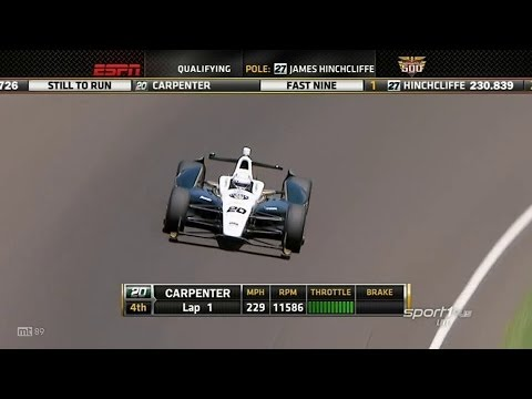 Ed Carpenter Laps @ 2014 Indy 500 Pole Day