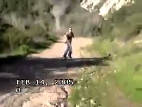 Real alien caught on tape hiking trip youtube