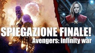 SPIEGAZIONE FINALE AVENGERS INFINITY WAR [scena post-credit | Captain Marvel]