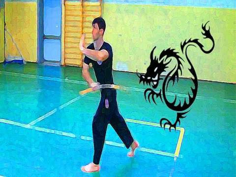 Tutorial Nunchaku: Maneggi otto dietro la spalla opposta (figure eight)