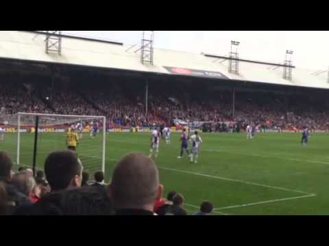 Crystal Palace fans chanting 'Tony Pulis Red & Blue Army
