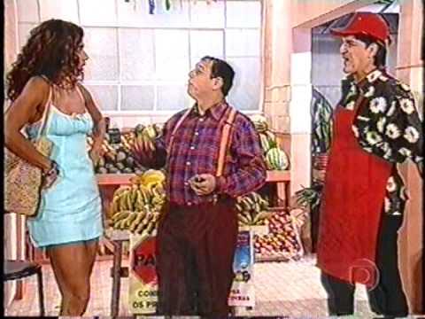 O saudoso ator Rômulo Arantes participando do Programa Zorra Total. Tv Globo, 2000.