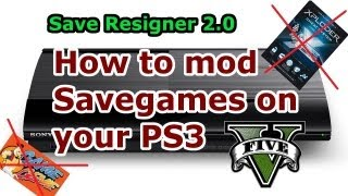 How To MOD Savegames On PS3 Save Resigner 2.0 Full