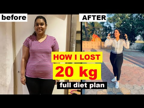 HOW I LOST 20kgs |weightlossjourney|transformation|diet plan |easy weight loss||kashikajain