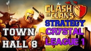 Clash Of Clans: Town Hall 8 At Crystal 1 And Defenses