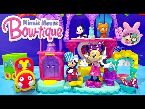 Disney Junior Minnie Mouse Bowtique Pampering Pets Salon & Mickey Mouse Choo Choo Train Toys Video
