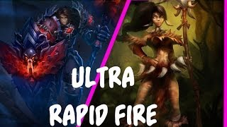League Of Legends : Nidalee + Taric Ultra Rapid Fire