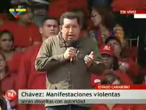 Chávez Ministro del Interior écheles gas y disuelva cualquier guarimba