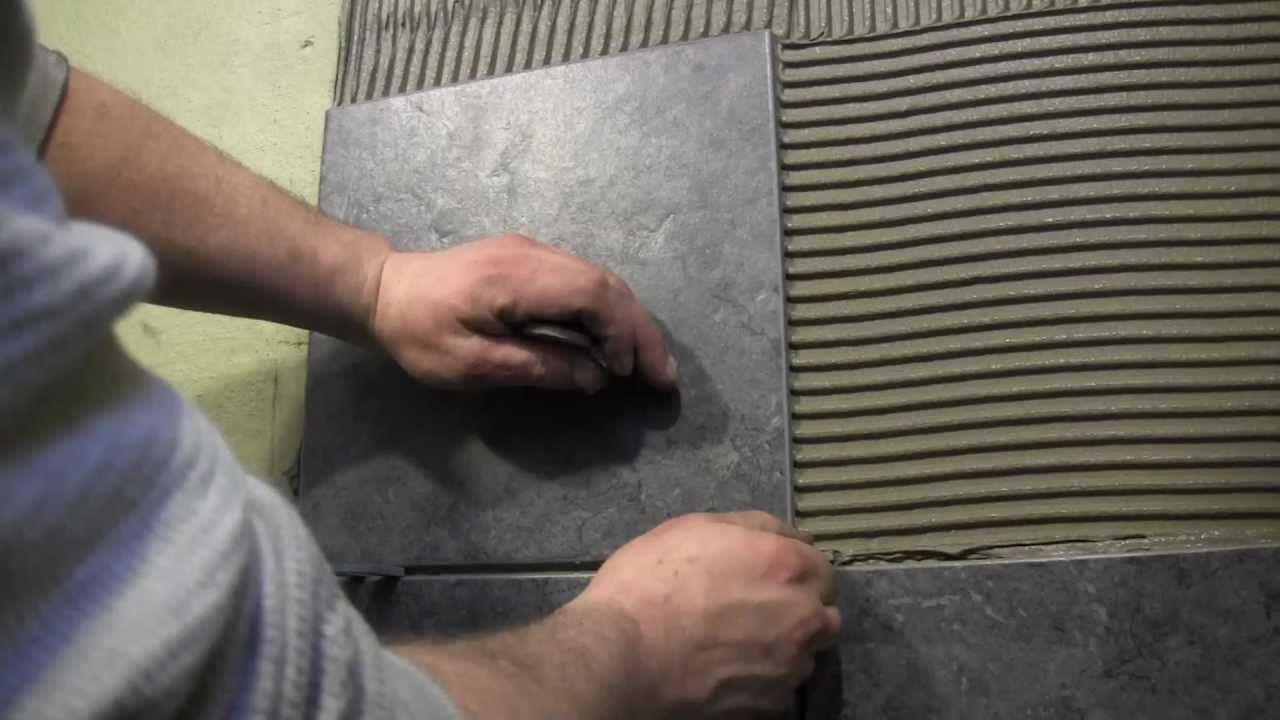 How To Tile A Shower Wall Cutting And Installing Wall Tile YouTube