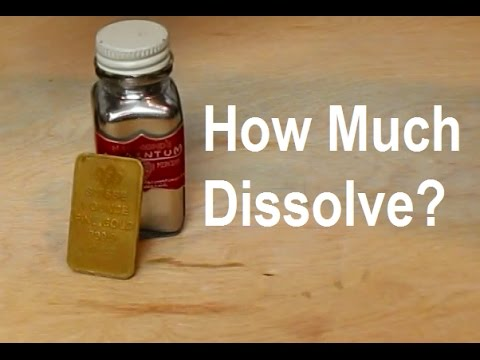 Solubility Of Gold In Mercury?