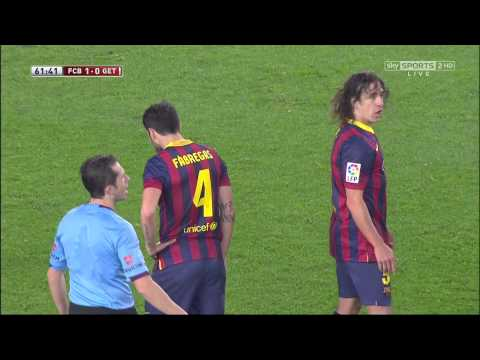 Barcelona - Getafe Highlights HD CdR 08.01.2014
