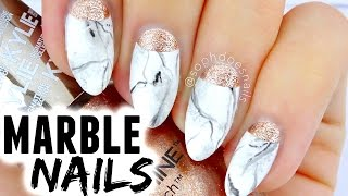 MARBLE & ROSE GOLD NAIL TUTORIAL | sophdoesnails