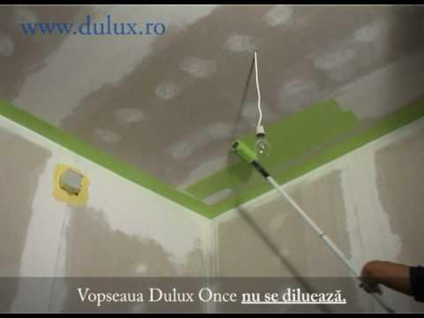 Dulux - Cum se foloseste vopseaua lavabila Dulux Once