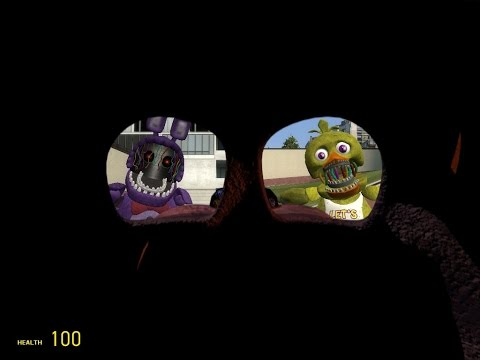 GMOD FNaF 2 running withered Bonnie and Chica