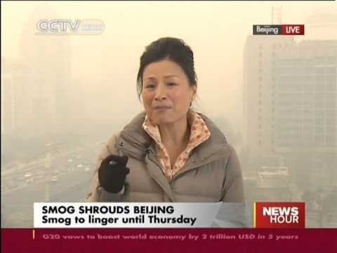 Reading of air pollutants hit hazardous level in Beijing