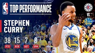 Stephen Curry Passes Ray Allen For The Most Made Threes in NBA Playoff History