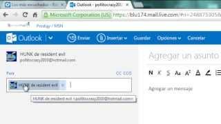 Como enviar un correo con un archivo Word o PDF en outlook.com