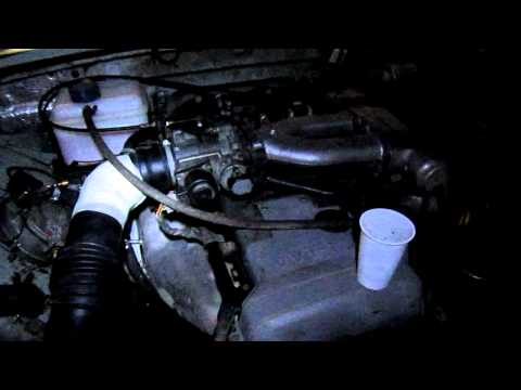 Работающий двигатель 1JZ-GE со стаканом