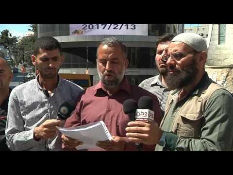 الأسرى المحررون المقطوعة رواتبهم : الأجهزة الأمنية بلباس مدني اخلت اعتصامنا بالقوة