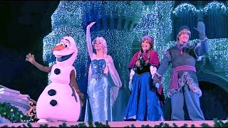 Frozen Holiday Wish Castle Lighting Show Debut Elsa