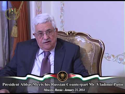 President Abbas Meets his Russian Counterpart Mr. Vladimir Putin