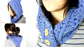 How To Crochet A Hooded Cowl (DIY Tutorial)