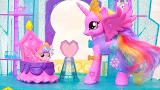LPS and MLP Toys & Dolls - My Little Pony Crystal Castle and Littlest Pet Shop Rainbow Pets