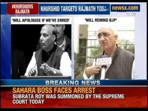 Salman Khurshid targets Rajnath singh today