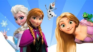 Frozen & Tangled Disney Princess Elsa & Rapunzel Games