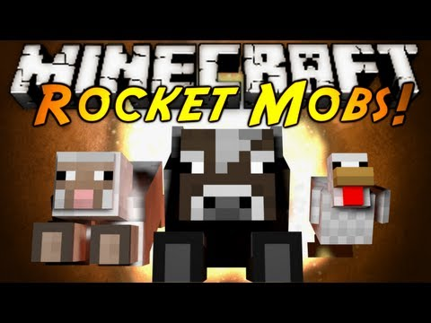 Minecraft Mod Showcase : ROCKET MOBS!