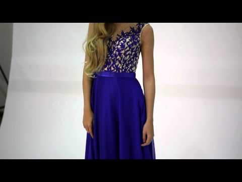 Tiffanys Illusion Prom Royal Summer full skirt Prom Dress