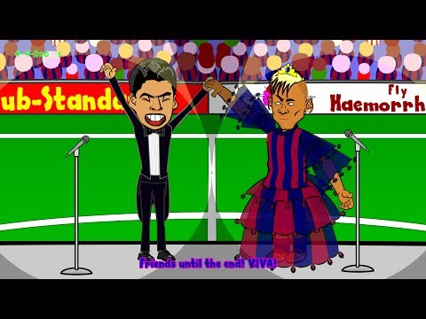 LUIS SUAREZ BARCELONA - press conference by 442oons (Suarez transfer cartoon joins Barcelona)