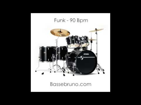 Funk Drum Play Along - 90 Bpm
