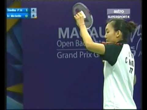 2013 Macau Badminton- P V Sindhu vs Michele Li pt 1 of 2