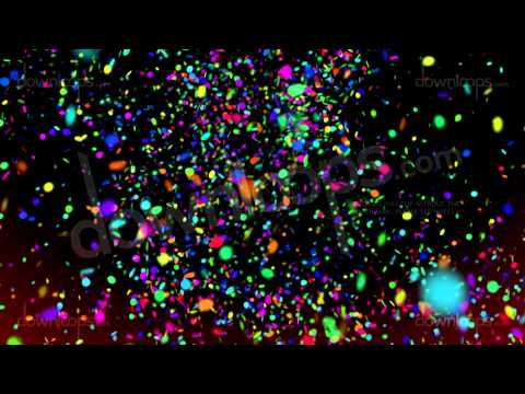 Confetti1 - Video Loop / Animated Motion Background