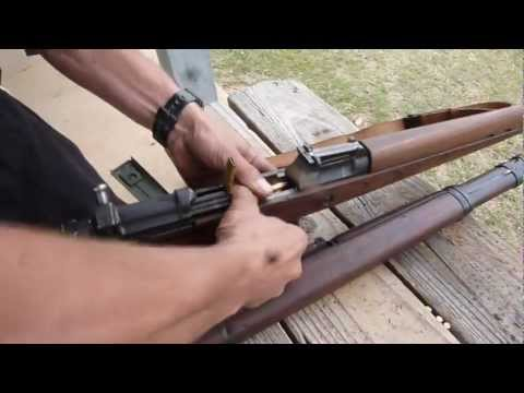 Firing WWII Gewehr G43 / K43 with 8mm SS  Nazi ammo -- live full speed rifle shooting zf4