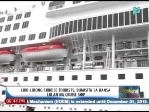WeekendNews: Libu-libong chinese tourists, bumisita sa bansa lulan ng cruise ship
