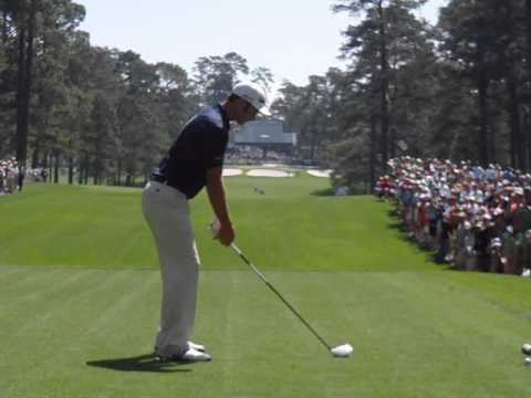 Dustin Johnson Driver Golf Swing 2011 Masters Practice Round w slow motion