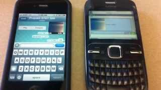 Whatsapp On IPhone And Nokia C3