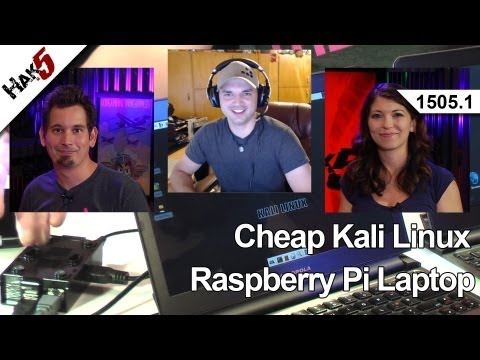 0 Cheap Kali Linux Raspberry Pi Laptop, Hak5 1505.1