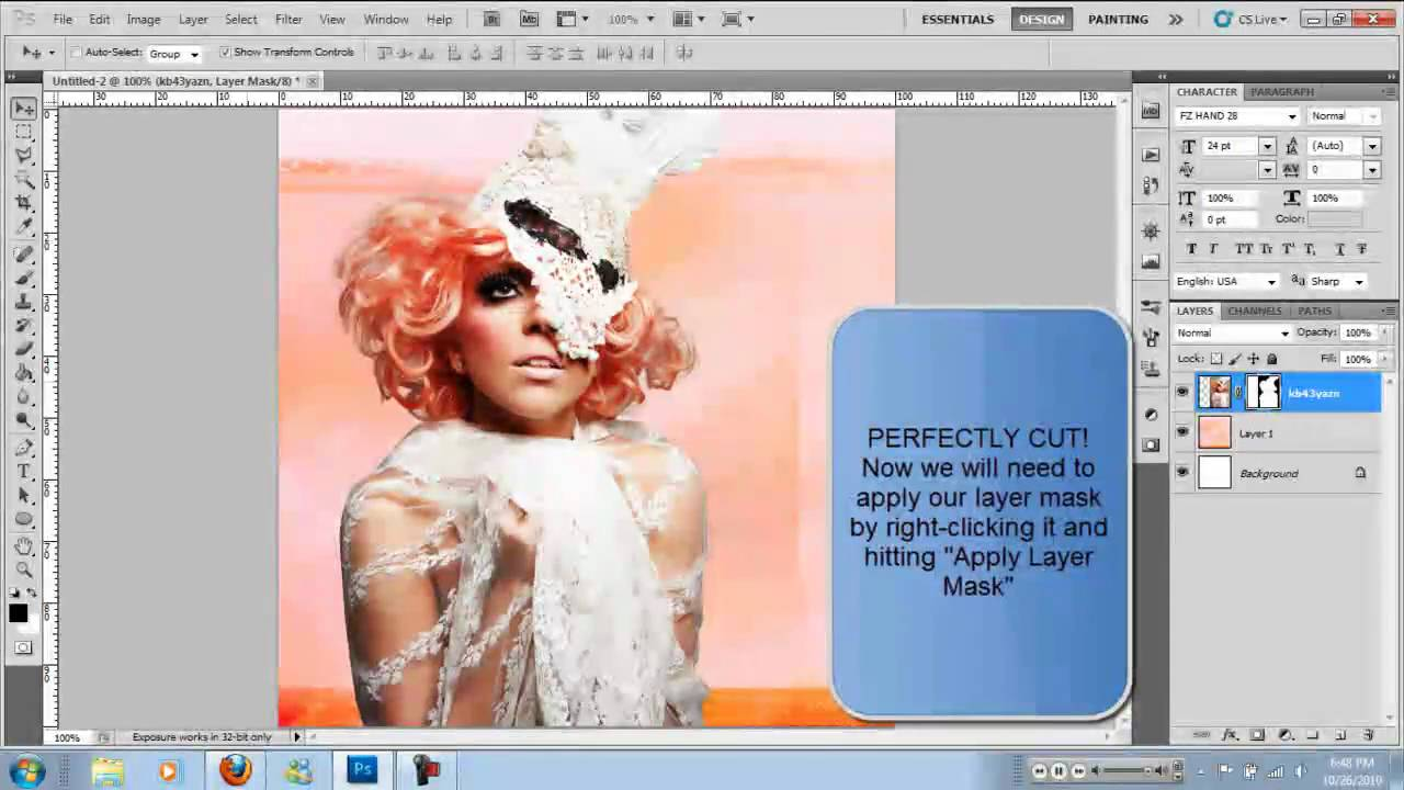 Cutting Out Complicated Hair Perfectly In Adobe Photoshop