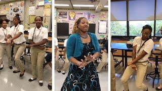 Teacher And Pupils Rap For Class Grade
