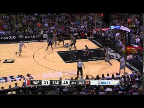 Manu Ginobili 15 Points 4 Assists Spurs vs Pelicans (3.29.2014)