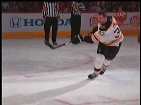 Zdeno Chara's 105.9 MPH Slap Shot (NHL Skills Competition 2011)