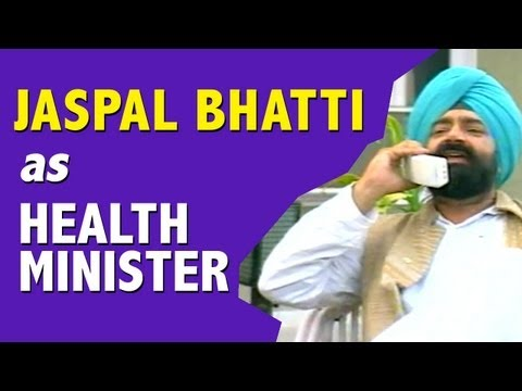 Jaspal Bhatti as the Health Minsiter | RAINY SEASON EPISODE SKIT | FULL TENSION |