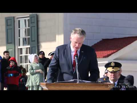 Presidents Day 2014 - Governor Terry McAuliffe