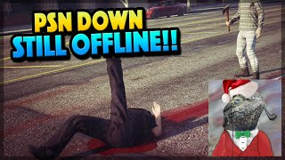 GTA 5 Online PSN STILL DOWN!! (GTA 5 Gameplay