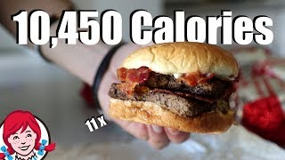 10,000 Calorie Baconator Challenge!! (11 Burgers)