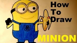 How To Draw Easy MINION Despicable Me 2 Step By Step HD