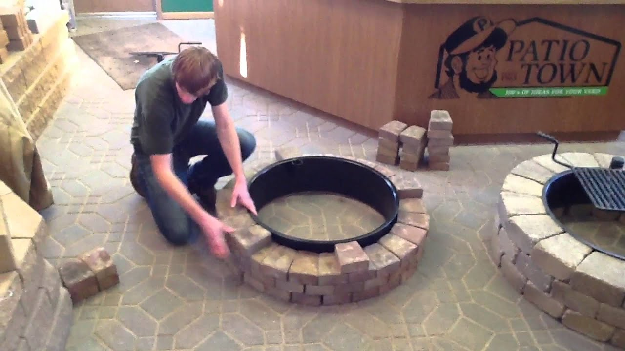 How To Build A Fire Pit Fire Ring Youtube